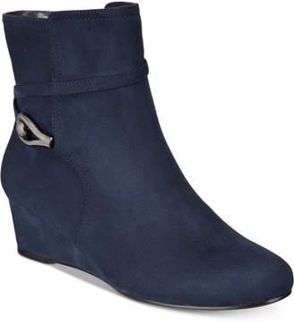 Impo Glammed Wedge Zip Booties Women's Shoes
