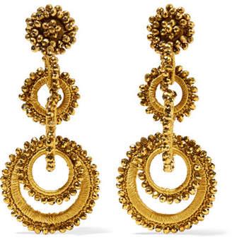 Bibi Marini - Sundrop Bead And Silk Earrings - Gold