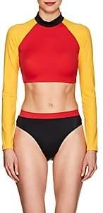 Solid & Striped Women's Malibu Cropped Rashguard - Red