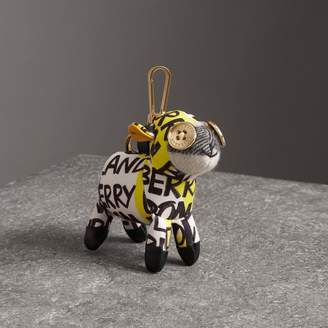 Burberry Wendy The Sheep Graffiti Print Cotton Charm, Yellow
