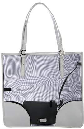 Frances Valentine Leather-Trimmed Mesh Tote w/ Tags