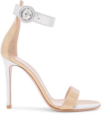 Gianvito Rossi Supreme Camoscio Strap Heels in Mekong & Silver | FWRD