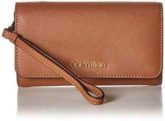 Calvin Klein Saffiano Medium Size Flap Over Wristlet