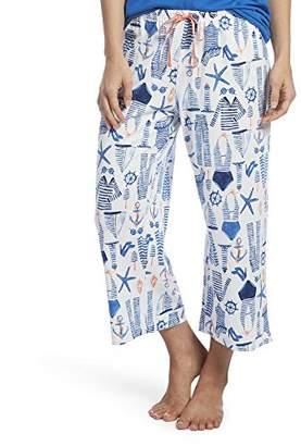 Hue Women's Printed Knit Capri Pajama Sleep Pant