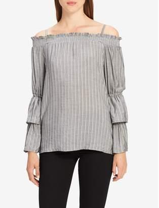 Calvin Klein off-shoulder bell sleeve top