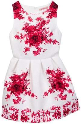 Paulinie Rose Print Dress (Little Girls)