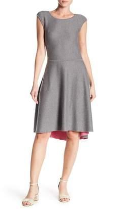 Eliza J Hi-Lo Hem Fit & Flare Dress