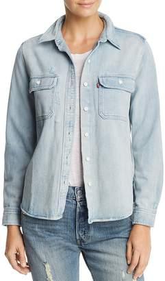 Levi's Utility Boyfriend Denim Shirt $79.50 thestylecure.com