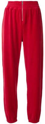 Juicy Couture Swarovski velour zip track pants