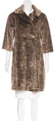 Cavallini Erika Faux Fur Knee-Length Coat