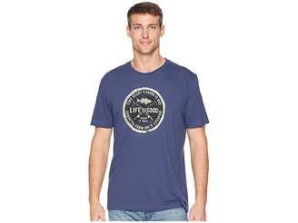 Life is Good Time Spent Fishing Crusher T-Shirt