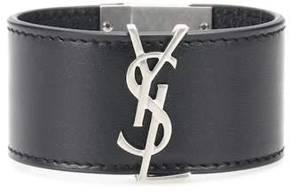 Saint Laurent Opyum Monogram leather bracelet