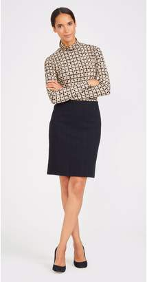J.Mclaughlin Gable Skirt in Antique Cable Knit Jacquard