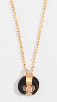 Chan Luu Petite Horn Necklace with Champagne Diamond