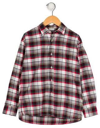 Papo d'Anjo Boys' Plaid Button-Up Shirt