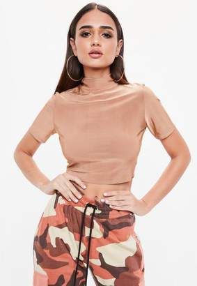 Missguided Short Sleeve Crop Top