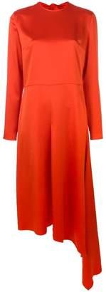 MSGM asymmetric hem bow-back dress