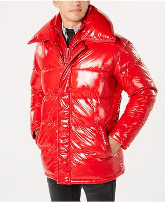 INC International Concepts I.n.c. Men Glossy Oversized Puffer Coat