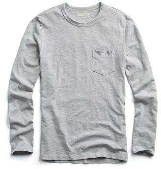 Todd Snyder Made in L.A. Long Sleeve Tee in Grey Heather