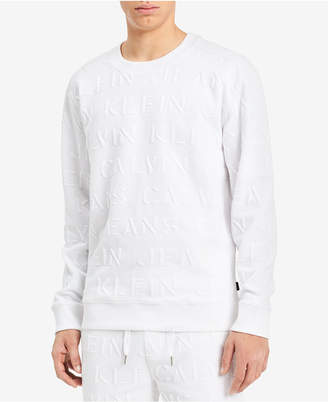 Calvin Klein Jeans Men's Embossed Sweatshirt, Created for Macy's