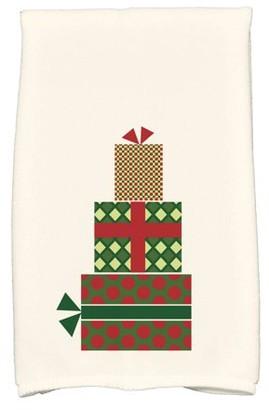 "Simply Daisy 16"" x 25"" Gift Wrapped Geometric Print Hand Towel"