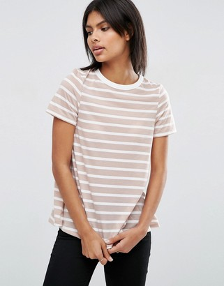 ASOS Swing T-Shirt In Stripe $15.50 thestylecure.com