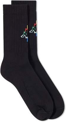 Marcelo Burlon County of Milan x Kappa Multi Coloured Sock