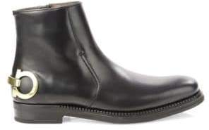 Salvatore Ferragamo Bankley Runway Leather Ankle Boots