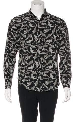 Amiri Woven Shark Print Shirt w/ Tags