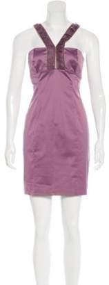 Versace Zip-Accented Mini Dress