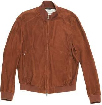 Armani Collezioni Brown Suede Jackets