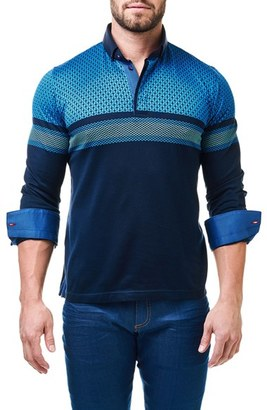 Men's Maceoo Degraded Circle Contemporary Fit Polo With Woven Cuffs $118 thestylecure.com