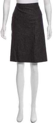 Calvin Klein Collection Wool Knee-Length Skirt Grey Wool Knee-Length Skirt
