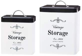 Global Amici Antique Shoppe Metal 2 Piece Kitchen Canister Set