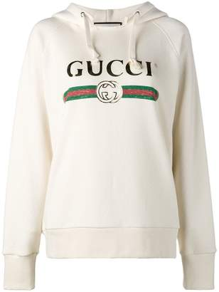 Gucci 'Fake' embroidered hoodie