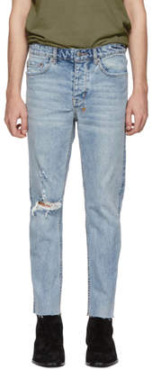 Ksubi Blue Chitch Chop Billbored Jeans