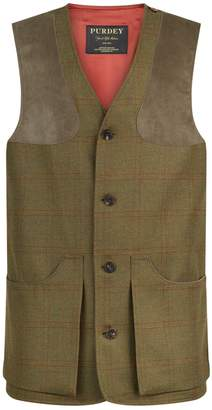 Purdey Technical Tweed Check Vest