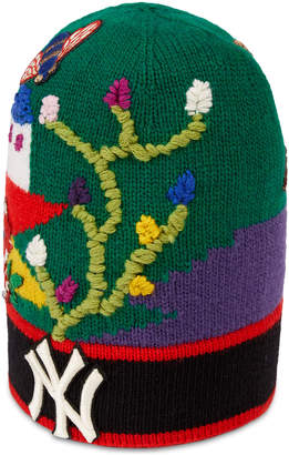 e94385d47 Gucci Wool hat with NY YankeesTM patch