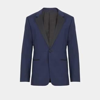 Theory Wool Silk Chambers Tuxedo Blazer