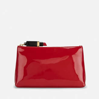 Lulu Guinness Women's T-Seam Medium Zip Pouch Cosmetic Bag - Red