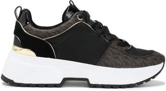 MICHAEL Michael Kors Mesh And Faux Leather-paneled Sneakers
