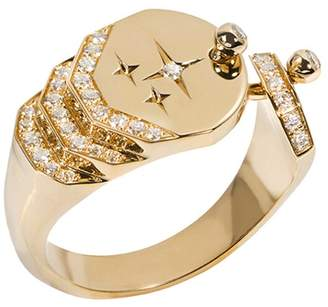 Nouvel Heritage Sparkles Diamond Ring - Yellow Gold
