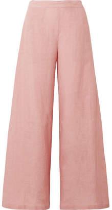 Mansur Gavriel Linen Wide-leg Pants - Blush