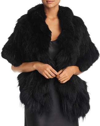 Maximilian Furs Ruffled Fox Fur Knit Stole