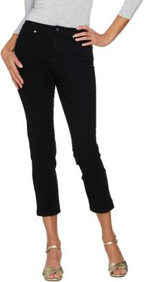 Isaac Mizrahi Live! Tall 24/7 Denim Fly Front Ankle Jeans