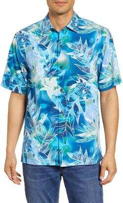 Tommy Bahama Azul Lagoon Classic Fit Short Sleeve Silk Button-Up Sport Shirt
