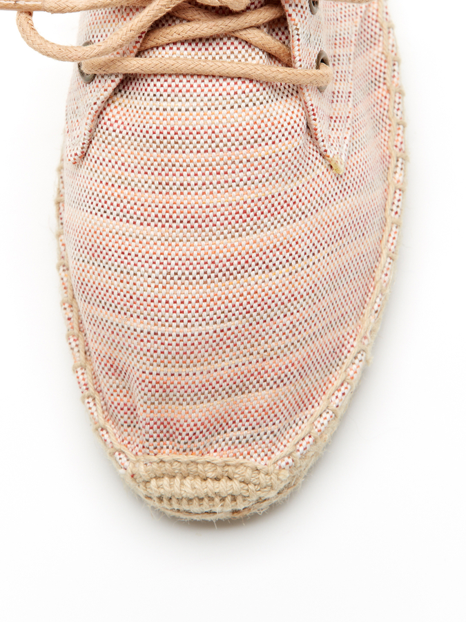 Soludos Linen Derby Lace-Up Espadrille