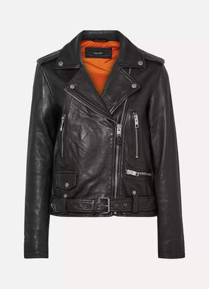 Ksubi Bad Company Leather Biker Jacket - Black