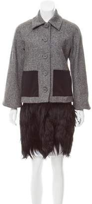 Alessandro Dell'Acqua Shearling-Trimmed Wool Coat