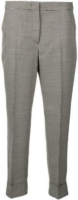 Pt01 houndstood plaid trousers